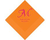 Personalised Napkin Decorative Initial-Personalised Napkin, custom napkin, personalised serviette, custom serviette, printed napkin, personalised wedding napkin, wedding serviettes