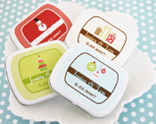 A Winter Holiday Mint Tins Christmas Mint Tins-Christmas mint tins, personalised tins, christmas favours,