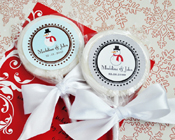 A Winter Holiday Personalised Lollipop Favours-A winter Holiday personalised lollipop favour, christmas lollipops, personalised christmas lollies, personalised christmas candy
