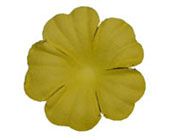 Paper Flowers - Yellow 20mm (Pack of 50)-Paper Flowers Yellow, Craft Flowers, diy invitations, wedding invitations, wedding bomboniere, bonbonniere
