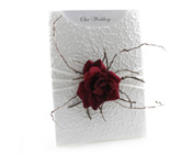 C6 Glamour Pocket Embossed Roses White & Red-Glamour Pocket, wedding invitation, Roses invitation, velvet rose, red rose invitation, stylish invitation, glamorous invitation, rose theme wedding, rose wedding invitation, red and white wedding invitation