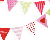 Paper Eskimo Party flags Girls-Paper eskimo party flags girls, girls paper flags, paper bunting
