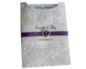 C6 Glamour Pocket Bouquet Pearl with Heart Diamante Buckle-C6 Glamour Pocket Bouquet Pearl with Heart Diamante Buckle, Wedding Invitation, Unique Wedding Invitation, silver invitation, glamour pocket invitation, purple and silver invitation, purple ribbon invitation, do it yourself invitation,