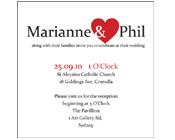 I Heart You Wedding Invitation-Wedding invitations, red and white wedding invitation, hoot invitations,