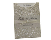 C6 Glamour Pocket  Pebbles Ivory Cream with Pearl-Glamour Pocket, wedding invitation, glamorous invitation, stylish invitation, shimmery invitation, pearl invitation, cream invitation, ivory invitation