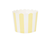 Paper Eskimo Limoncello Baking Cup Cupcake Wrapper-Paper Eskimo Limoncello Baking Cup Cupcake Wrapper, yellow stripe Cupcake Wrapper, Birthday Party Cupcake Wrapper, yellow theme party, yellow Cupcake Cases, Girls party cupcake Wrapper, baby shower cupcake wrapper
