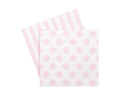 Paper eskimo Marshmallow Pink Napkins-Pink Party Paper Napkins, Paper Eskimo marshmallow pink Napkins, pink Party Napkins, girls party Napkins, pink Serviettes, pink and white napkins, pink and white serviettes