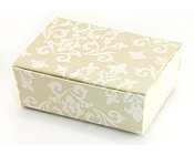 Medium HiPP Box think bracelet - Damask Ivory-Medium Hipp box damask ivory, think bracelet box, favor box, diy wedding box, printed box,