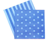 Paper Eskimo Blue Star Napkins-Paper Eskimo blue star Napkins, blue Party Napkins, star Party Napkins, boys party Napkins, blue Serviettes, kids party supplies, affordable kids partyware, blue party theme, boys party theme.