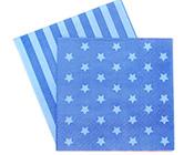 Paper Eskimo Blue Star Napkins-Paper Eskimo blue star Napkins, blue Party Napkins, star Party Napkins, boys party Napkins, blue Serviettes, kids party supplies, affordable kids partyware, blue party theme, boys party theme.