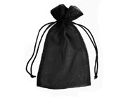 Organza Bag Black (Pack of 10)-Organza bag, chiffon bag, high quality organza bag, Black organza bag, premium organza bag, wedding favour, wedding bomboniere, christening favour, christening bonbonniere, vandoros organza bag, jewellery organza bag, bonbonniere, bombonniere, bomboniere