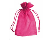Organza Bag Fuchsia Hot Pink (Pack of 10)-Organza bag, chiffon bag, high quality organza bag, Fuchsia Hot Pink organza bag, premium organza bag, wedding favour, wedding bomboniere, christening favour, christening bonbonniere, vandoros organza bag, jewellery organza bag, bonbonniere, bombonniere, bomboniere