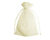 Organza Bag Ivory (Pack of 10)-Organza bag, chiffon bag, ivory organza bag, high quality organza bag, premium organza bag, wedding favour, wedding bomboniere, christening favour, christening bonbonniere, vandoros organza bag, jewellery organza bag, bonbonniere, bombonniere, bomboniere