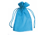 Organza Bag Marine Blue (Pack of 10)-Organza bag, chiffon bag, high quality organza bag, Marine blue organza bag,turqoise organza bag, premium organza bag, wedding favour, wedding bomboniere, christening favour, christening bonbonniere, vandoros organza bag, jewellery organza bag, bonbonniere, bombonniere, bomboniere