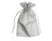 Organza Bag Silver (Pack of 10)-Organza bag, chiffon bag, high quality organza bag, premium organza bag, wedding favour, wedding bomboniere, christening favour, christening bonbonniere, vandoros organza bag, jewellery organza bag, bonbonniere, bombonniere, bomboniere