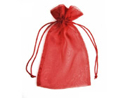 Organza Bag Spice Red (Pack of 10)-Organza bag, chiffon bag, high quality organza bag, Spice Red organza bag, premium organza bag, wedding favour, wedding bomboniere, christening favour, christening bonbonniere, vandoros organza bag, jewellery organza bag, bonbonniere, bombonniere, bomboniere, Christmas organza