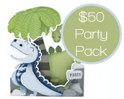 Dinosaur Party Pack $50-Dinosaur party pack, paper eskimo dinosaur invitation, big foot dino party pack,