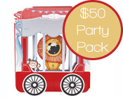 Circus Party Pack $50-Circus Party Pack, Circus Party Kit, Paper Eskimo Roll Up Circus Party pack, cheap circus party pack