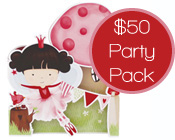 Fairy Party Pack $50-Fairy Party invitation and supplies, fairy party pack, fairy party kit,cheap fairy party kit, cheap fairy party kit, designer fairy party pack, paper eskimo fairy wing invitation kit, paper eskimo party pack, girls party pack