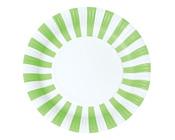 Paper Eskimo Apple Green Stripe Party Plates-Paper eskimo Party Plates, Paper eskimo apple green stripe party plates, green paper plates, green stripe paper plates, boys party plates