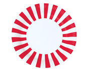 Paper Eskimo Candy Cane Red Stripe Plates-Paper eskimo Party Plates, Paper eskimo candy cane red stripe party plates.