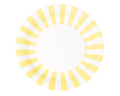 Paper Eskimo Limoncello Yellow Stripe Plate-Paper eskimo Party Plates, Paper eskimo Limoncello stripe party plates, yellow paper plates, yellow stripe paper plates, girls party plates, lemon coloured plates