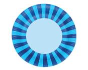 Paper Eskimo Sherbet Blue Party Plates-Paper eskimo sherbet Blue plates, blue party plates, blue stripe party plates, boys party plates, blue paper plates