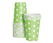 Paper Eskimo Apple Green Spot Party Cup-Paper Eskimo Apple Green Spot Party Cup, green paper cup, Birthday Party cups, green theme party, green spot cups, boys party cups, baby shower cups