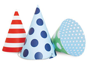 Paper Eskimo Party Hats Boy-Paper Eskimo Party hats boys, boys party hats, paper party hats, blue party hats