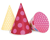 Paper Eskimo Party Hats Girls-Paper Eskimo Party Hats, Party hats girls, pink party hats, cone party hats,