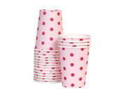 Paper Eskimo Pink Floss Party Cup-Paper Eskimo Pink Floss spot Party Cup, pink paper cup, Birthday Party cups, pink theme party, pink spot cups, girls party cups, baby shower cups