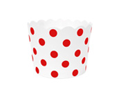 Paper Eskimo Red Spot Baking Cup Cupcake Wrapper-Paper Eskimo Red spot Baking Cup Cupcake Wrapper, Red spot Cupcake Wrapper, Birthday Party Cupcake Wrapper, red theme party, red Cupcake Cases, Girls party cupcake Wrapper, baby shower cupcake wrapper