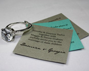 Diamond Ring Invitation-Diamond Ring Invitation, glamorous invitation, unusual invitation, keyring invitation, keychain invitation, unique wedding invitation