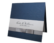 Royal Navy Blue Invitation with Silver Bow Tie-royal blue invitation, navy blue wedding invitation, blue and silver wedding invitation,