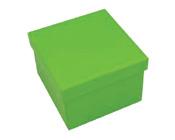 Square Hard Box 7.5cm Lime Green-Square solid box, bomboniere box, box with lid, rigid bomboniere box, hard gift box, Lime Green box, christening bomboniere, diy box, wedding bomboniere, bonbonniere box