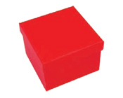Square Hard Box 7.5cm Red-Square solid box, bomboniere box, box with lid, rigid bomboniere box, hard gift box, Red box, christening bomboniere, diy box, wedding bomboniere, bonbonniere box