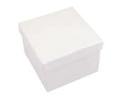 Square Hard Box 7.5cm White-Square solid box, bomboniere box, box with lid, rigid bomboniere box, hard gift box, White box, christening bomboniere, diy box, wedding bomboniere, bonbonniere box