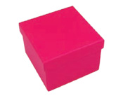 Square Hard Box 7.5cm Hot Pink-Square solid box, bomboniere box, box with lid, rigid bomboniere box, hard gift box, Hot Pink box, christening bomboniere, diy box, wedding bomboniere, bonbonniere box