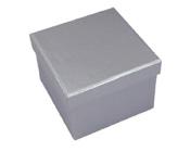 Square Hard Box 7.5cm Silver-Square solid box, bomboniere box, box with lid, rigid bomboniere box, hard gift box, Silver box, christening bomboniere, diy box, wedding bomboniere, bonbonniere box