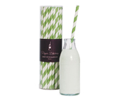 Paper Eskimo Paper Straws Apple Green-Paper eskimo paper straws Apple Green, green stripe straws, retro paper straws