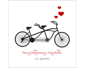 Tandem Bike Invitation - Bicycle for Two-Tandem bike invitation, bike wedding invitation, bicycle for two invitation, bike engagement invitation