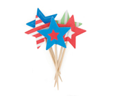 Paper Eskimo Superstar Cupcake Topper-Paper eskimo cupcake topper superstar, superstar cupcake flags, boys party cupcake topper, star cupcake topper