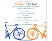 Two bicycles Invitation-Two bicycles invitation, bike wedding invitation, bicycles wedding invitation, bike engagement invitation, bicycle engagement invitation, modern wedding invitation
