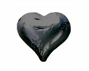 Black Foiled Hearts-Fardoulis chocolate foiled Hearts, chocolate hearts, foil hearts, wedding confectionery, wedding chocolate, bomboniere, bonbonniere, fine chocolate, luxury bomboniere, luxury chocolate, black chocolate, black hearts, black foil