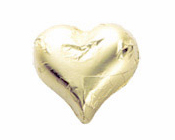 Matt Gold Foiled Hearts-Fardoulis chocolate foiled Hearts, chocolate hearts, foil hearts, wedding confectionery, wedding chocolate, bomboniere, bonbonniere, fine chocolate, luxury bomboniere, luxury chocolate, gold hearts, gold chocolate