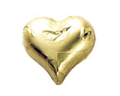 Shiny Gold Foiled Hearts-Fardoulis chocolate foiled Hearts, chocolate hearts, foil hearts, wedding confectionery, wedding chocolate, bomboniere, bonbonniere, fine chocolate, luxury bomboniere, luxury chocolate, gold hearts, gold chocolate, yelow hearts, yellow chocolate