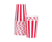 Paper Eskimo Candy Cane Red Striped Party Cup-red and white striped paper cup, 