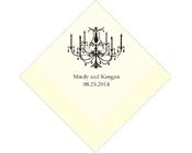 Personalised Napkin Elegant Chandelier-Personalised Napkins, Personalised chandlelier napkins, personalised serviettes,