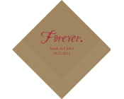 Personalised Printed Napkins - Forever-Personalised Napkins, Personalised Wedding Serviettes, monogrammed napkins, forever printed napkins, forever serviettes, forever wedding napkins, printed wedding serviettes