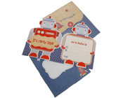 HiPP Invitation kit little people robot (Pack of 25)-Robot Invitation, birthday invitations, invitations for boys, HiPP Invitation kit little people robot